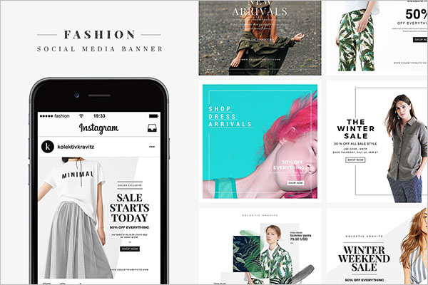 Fashion Media Banner Designs