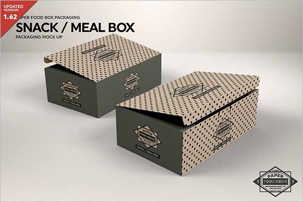 Food Box Template Design