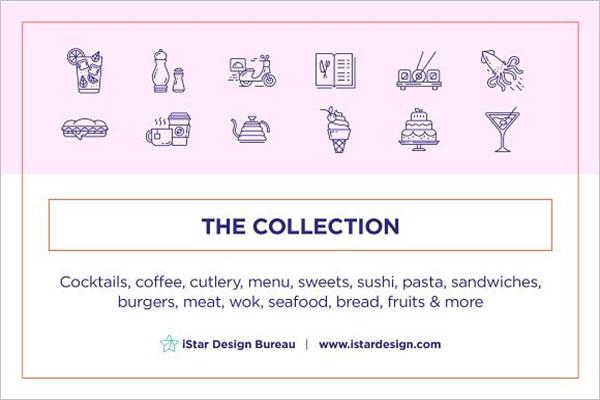 Food & Drinks Icons Set