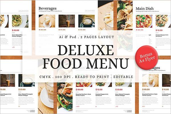 Food Menu Designs