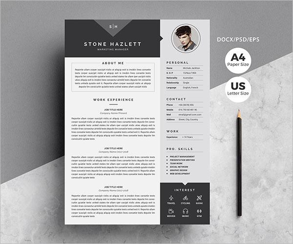 Free CV Design Template