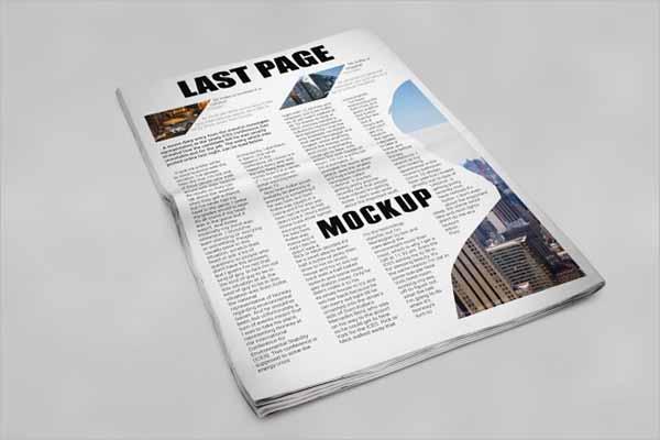 Free Vector Newspaper Mockup