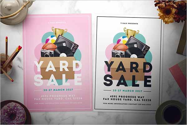 Garage Sale Advertising Flyer