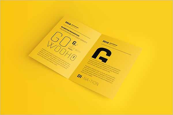 Latest A4 Brochure Mockup Templates