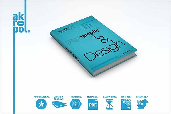 Latest Book Cover PSD Mockup