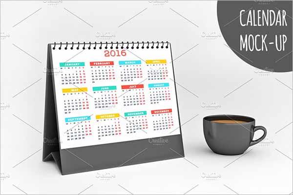 Latest Calendar Mockup Design