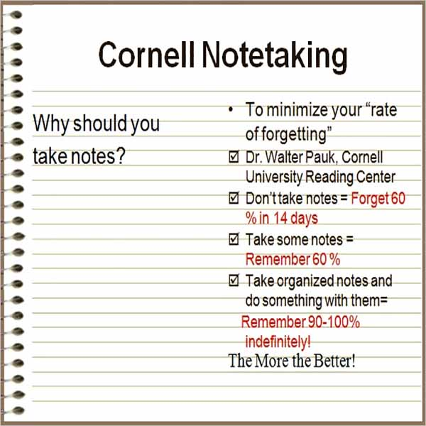 Latest Cornell Notes Templates