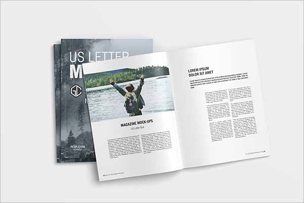 Latest Letter Magazine Mockup Design