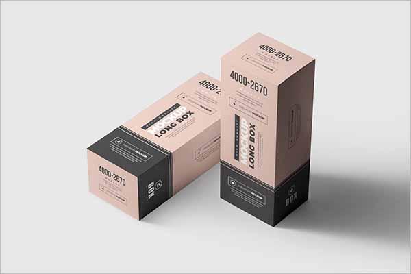 Latest Long Box Mockup Design