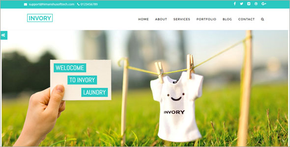 Laundry Responsive Website Template