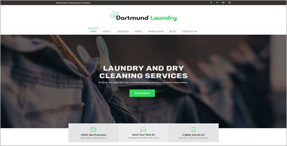 Laundry Website Template Ideas