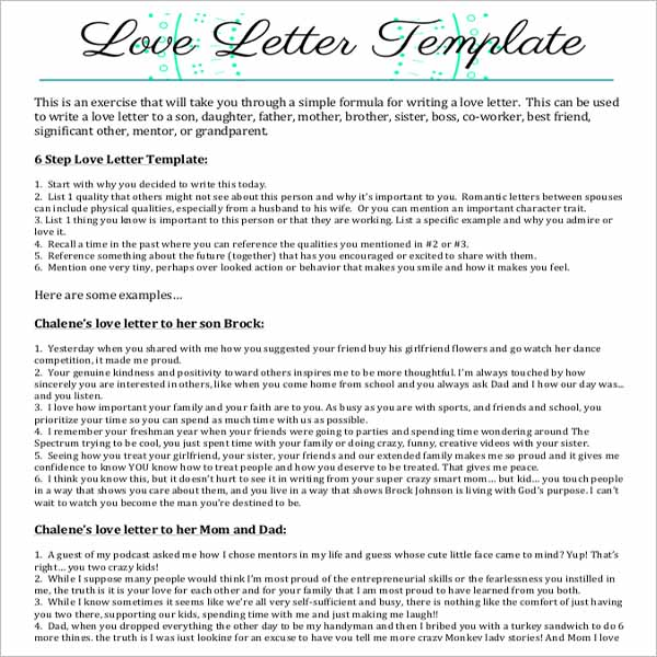 Love Letter Template  Download