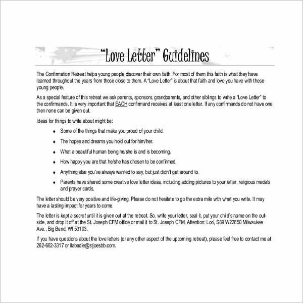 Love Letter Template Google Docs