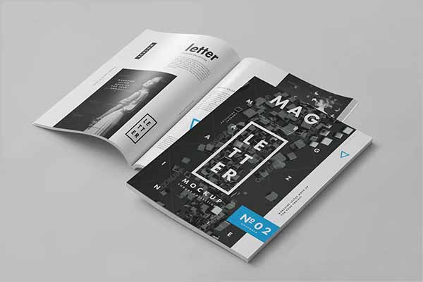 Magazine Article Mockup Template