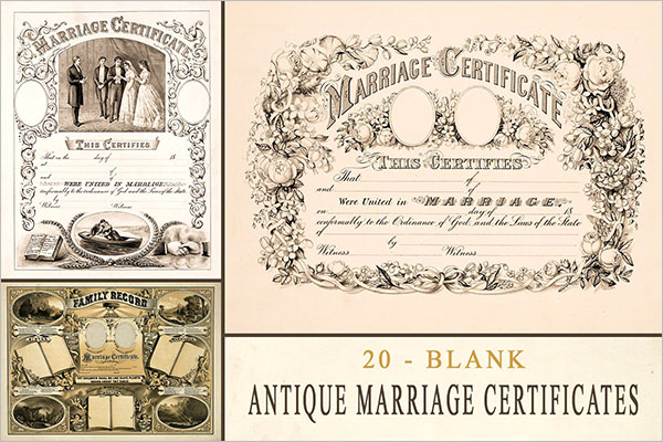 Marriage Chruch Certificate Templates