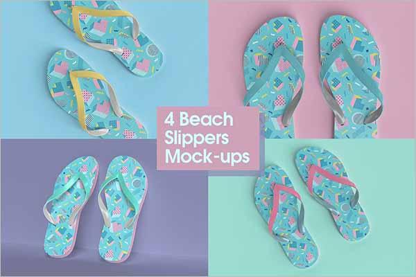 Modern Beach Slippers Mock-up
