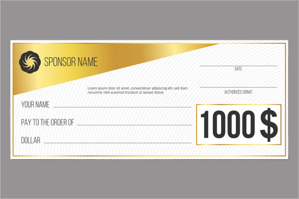 Modern Blank Check Templates