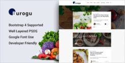 Modern Blog Website PSD Template