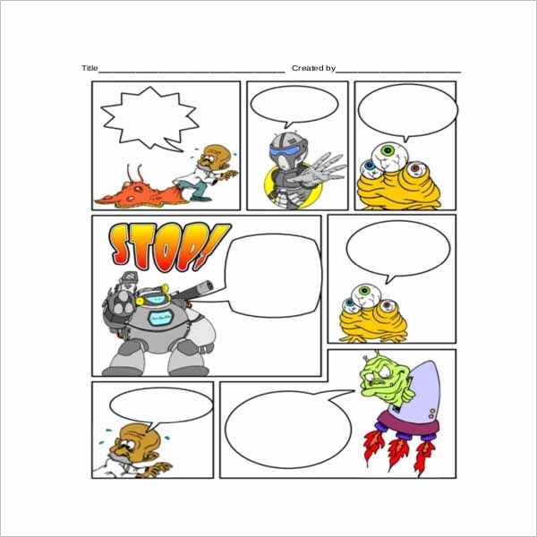 This is a picture of Comic Strip Template Printable within editable