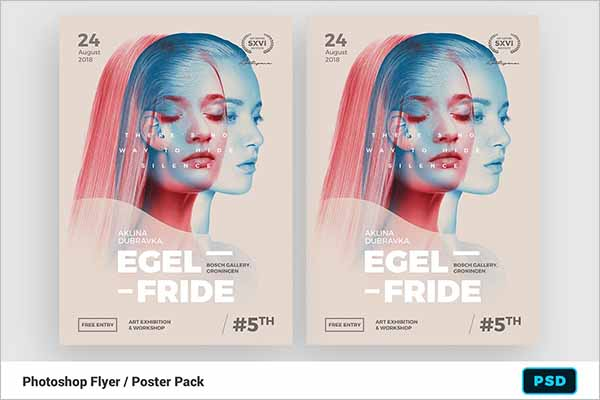 Modern Double Exposure Poster Designs