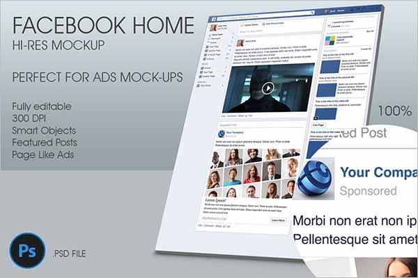 Modern Facebook Ad Mockup PSD Designs