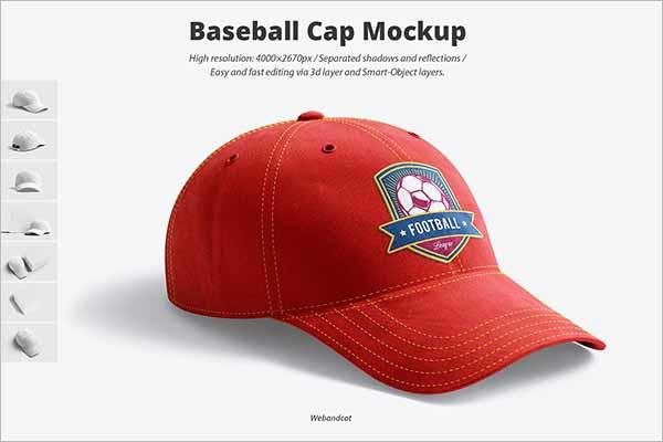 Modern Free PSD Cap Mockups