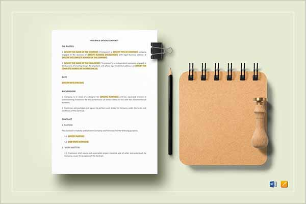 Modern Freelance Contract Template