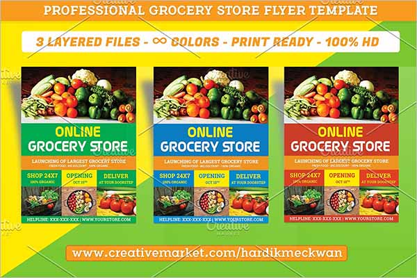 Modern Grocery Store Flyer Template