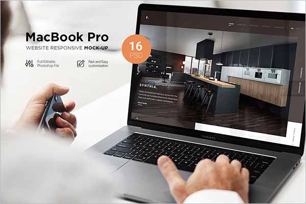 Modern MacBook Mockups PSD Templates