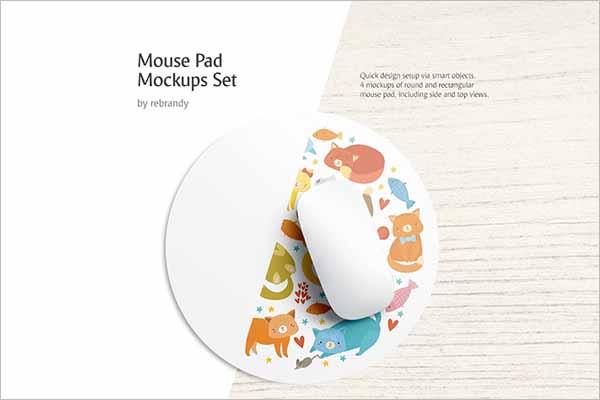 Modern Mouse Pad Mockups Set
