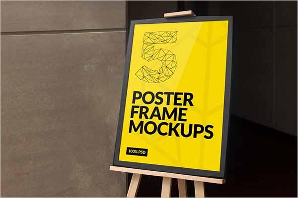 Modern Poster Mockup PSD Designs