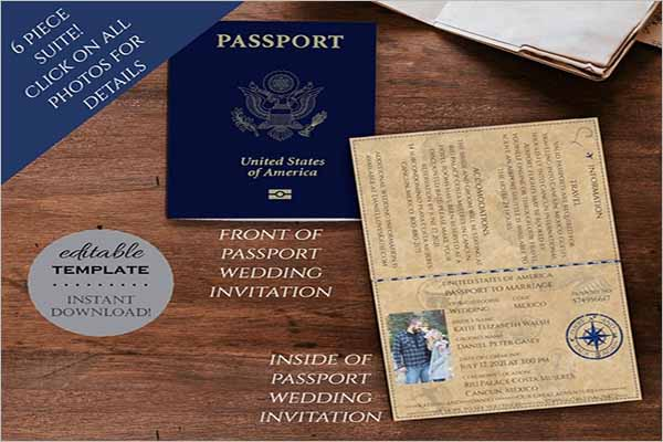 Modern Printable Passport Templates