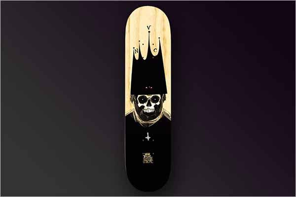 Modern Printable Skateboard Mockup Templates