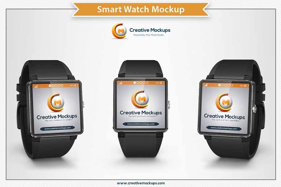 Modern Smart Watch PSD Mockups