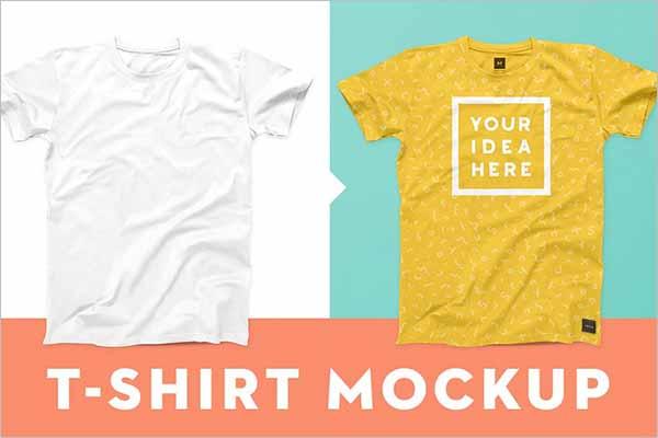 Modern T-Shirt Mockup Vector Template