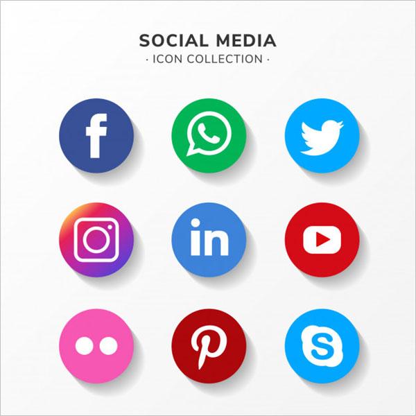 Modern social media icon Design