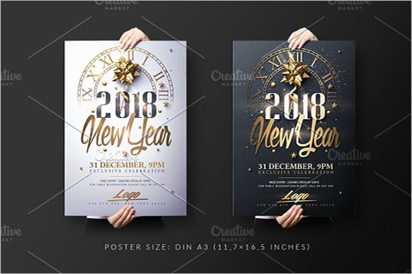 New Year Invitation Poster Templates
