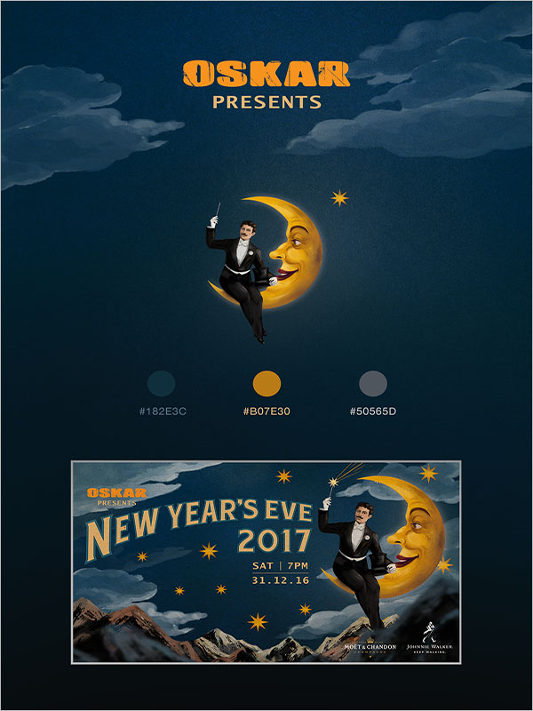 New Year's Eve Event Design Poster