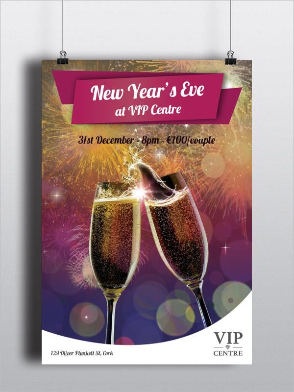 New Year's Eve poster Example