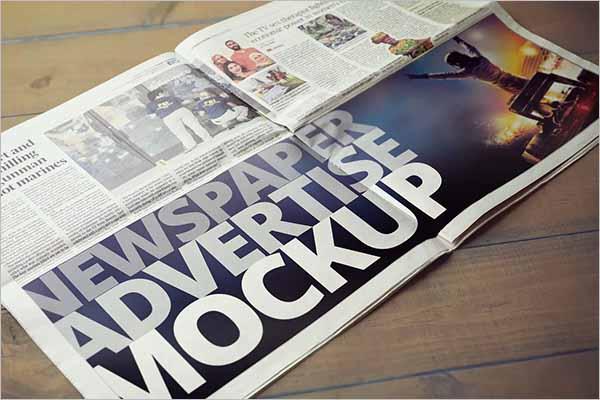 Newspaper Mockup Elegant Design