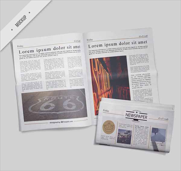 Newspaper Mockup Free PSD Design