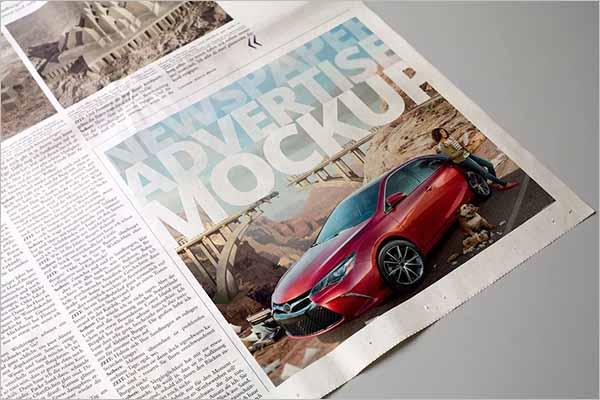 Newspaper Mockup Printing Design