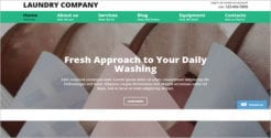 Online Laundry Website Template