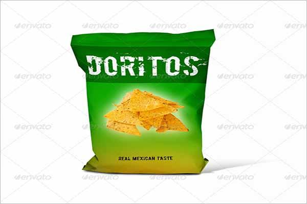 PSD Chips Bag Mockup Design