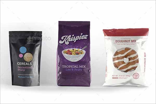 Pack Of Chips Bag Mockup