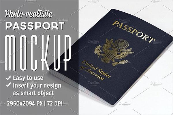 Passport Template Word Text