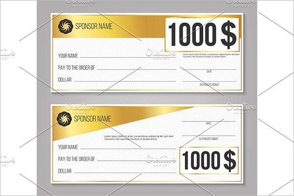 Payment event winning lottery check