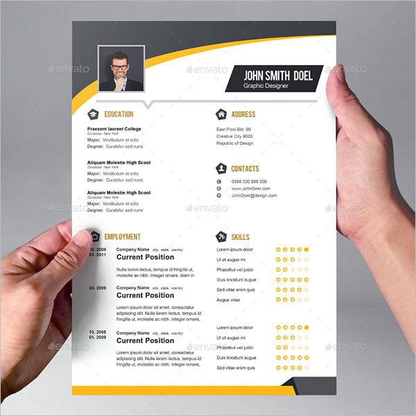Personal CV Design Template