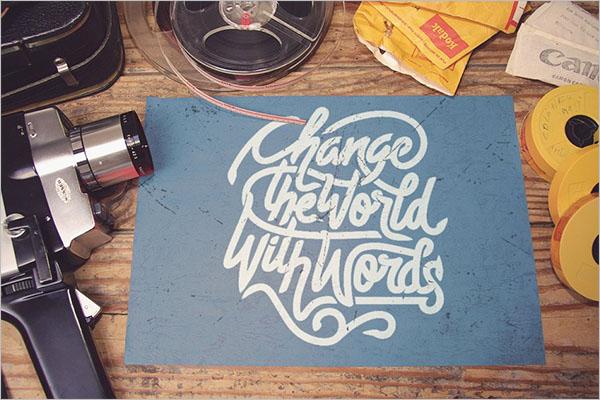 Poster Camera Mockup