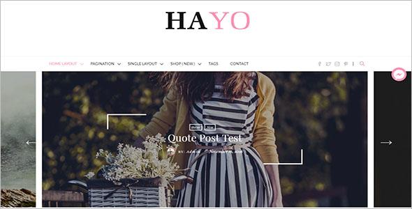 Premium Blog Website Theme